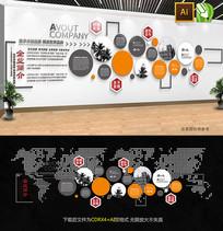 经典企业宣传文化墙设计模板