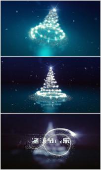 唯美圣诞树演绎logo视频模板