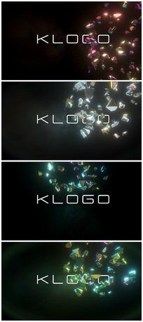 15个版本石头破碎logo片头视频模板