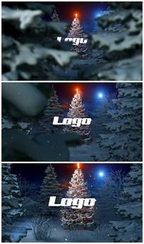 卡通圣诞快乐logo视频模板