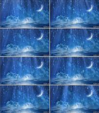 梦幻星空月亮夜色LED舞台背景视频