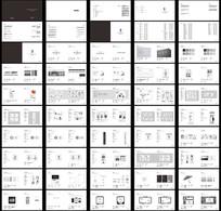 素色时尚简约企业整套VIS设计模板