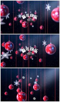 新年圣诞文字标题视频模板