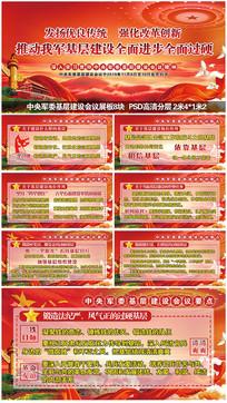 中央军委基层建设会议要点展板