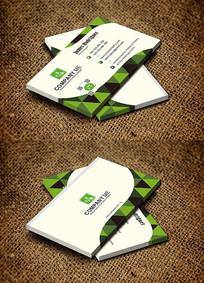 绿色简约创意大气节能环保名片设计 CDR
