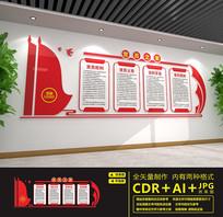 红色党建室党员之家文化墙