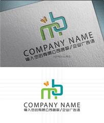 mb字母LOGO标志设计
