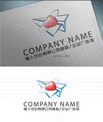 纸飞机LOGO标志设计
