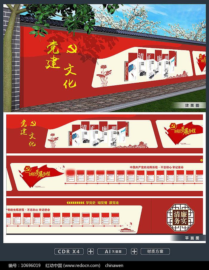 党的光辉历程党政机关社区党建文化墙图片