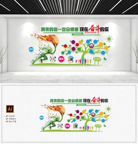 现代团队企业文化墙励志标语形象墙