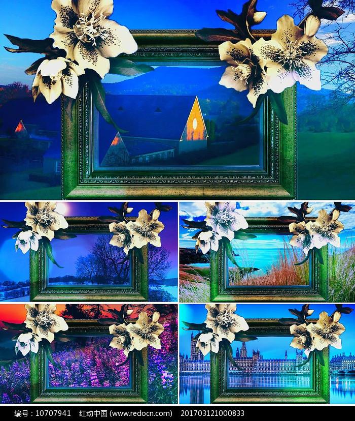 乐曲爱的礼赞舞台背景视频素材图片