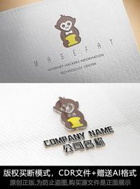 猩猩logo标志猴子商标设计