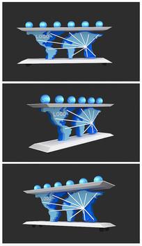原创科技启动台效果图模型 max