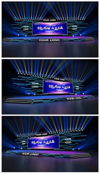 原创科技线路板舞台效果图 max