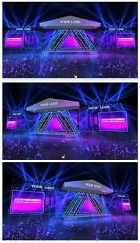 原创三角炫彩演唱会舞台效果图 max