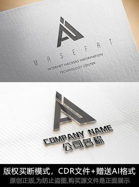 A字母logo标志设计