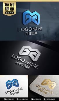 MX字母标志设计