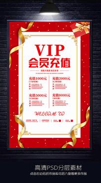VIP会员充值海报