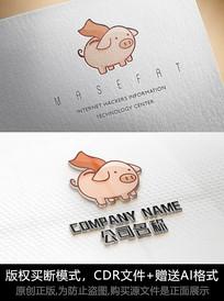 创意小猪logo标志商标设计