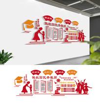 大气校园文化墙布置模板