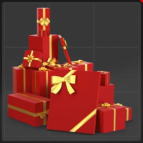 电商网商圣诞节礼品盒元素 PNG