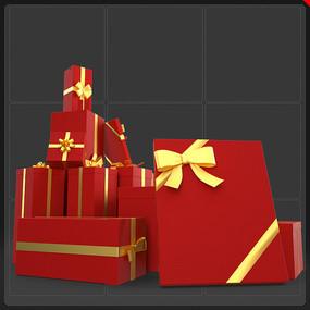 电商网商圣诞节礼物盒堆 PNG