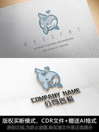 鲸鱼logo标志鲸鱼商标