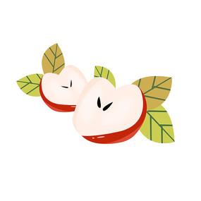 卡通水果苹果装饰元素