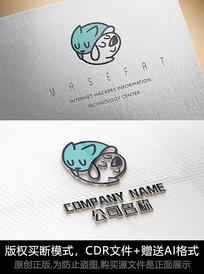 猫狗logo标志宠物商标