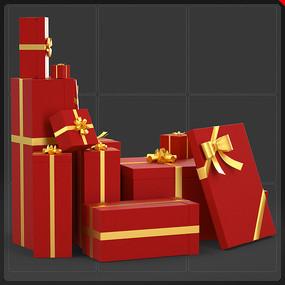 圣诞节电商网商礼品盒元素 PNG