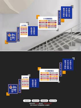 新时代枫桥经验公安警营文化墙楼梯文化墙