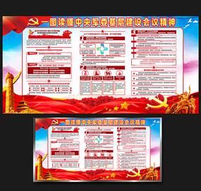一图读懂中央军委基层建设会议宣传展板