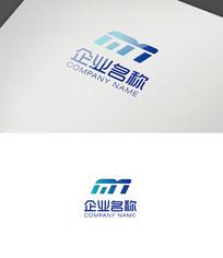 字母M形状logo设计