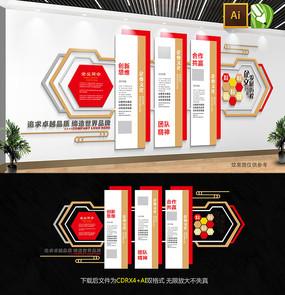 大型通用企业文化墙设计