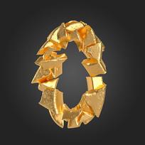 金石质感倒计时周年庆数字0