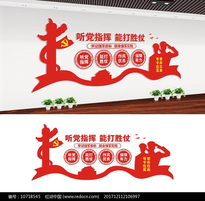 军队宣传文化墙设计图片