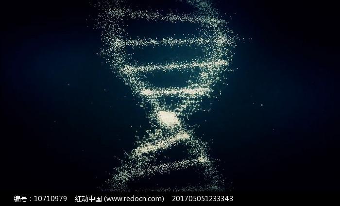 科技生物DNA双螺旋分子结构视频素材图片
