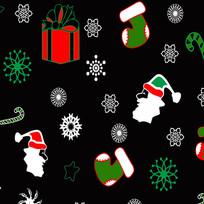 圣诞卡通底纹装饰元素