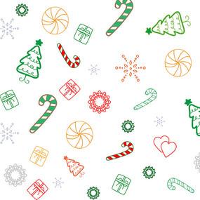 圣诞透明装饰图案底纹元素