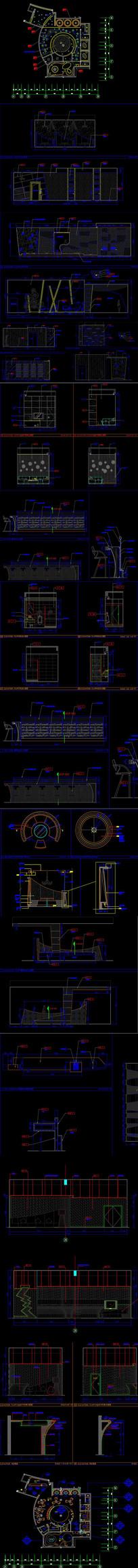 娱乐会所CAD平面图 dwg