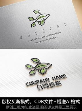 创意鱼logo标志设计