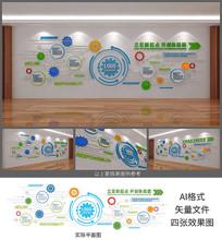 科技公司文化墙设计