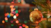 圣诞树礼物模糊灯光背景视频素材