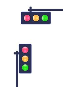 玻璃水晶灯红绿灯设计 PSD