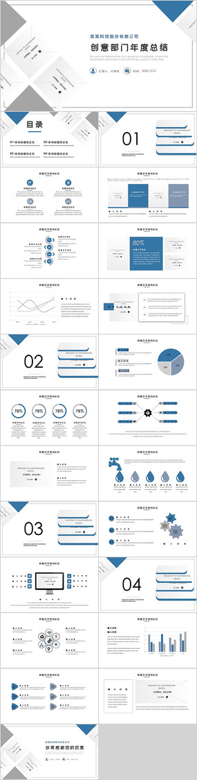 创意部门年度工作总结PPT模板