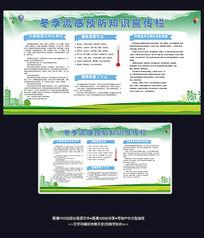 冬季流感感冒预防健康小知识宣传栏