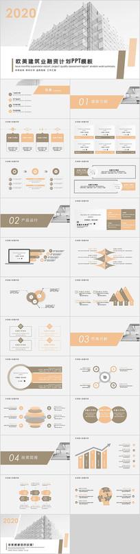 房地产建筑行业融资计划PPT模板
