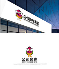 卡通鸟logo设计 CDR