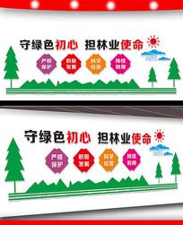 林业局宣传标语文化墙设计