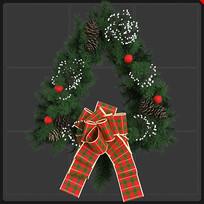 圣诞节花环蝴蝶结圣诞元素